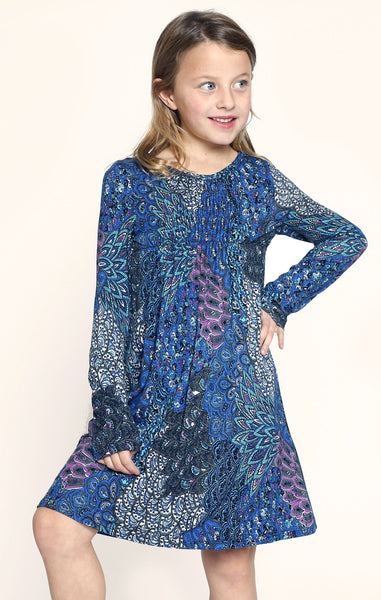 Truly Me Boho Print Dress (sz 4-14)