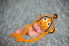 Clownfish Soft Crochet  Hat (sz 0-6mo )
