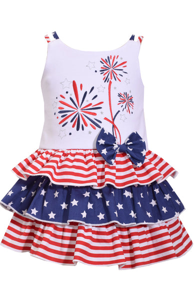 Bonnie Jean Firework Tiered Dress