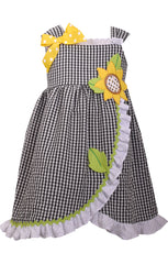 Sunflower Seersucker Dress