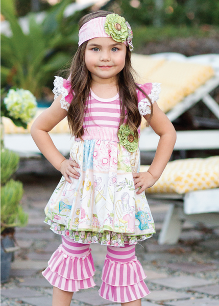 Giggle Moon Lily of the Valley Maddison Dress & Leggings Set (sz 6m-4T) SPRING 2016 PREORDER