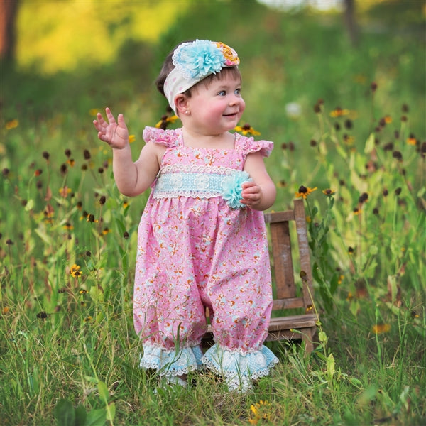 Merry Meadow Baby Girls Romper