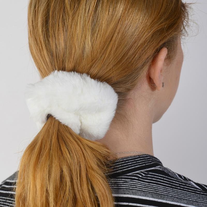 Milk White Hair Tie - Fuzz