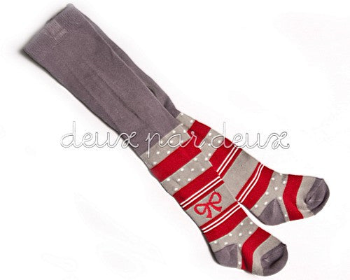 Deux Par Deux Casse-Noisette Striped Tights N.C.. Sizes 6mo-6yr