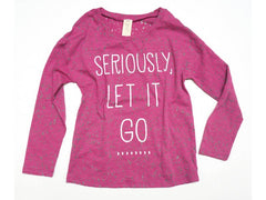"Over The Top ""Seriously Let It Go"" Tunic (sz 12, last 1)"