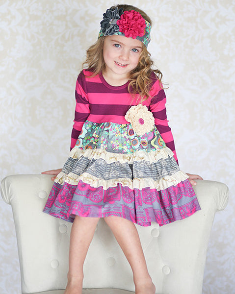 Giggle Moon Eternal Bliss Party Dress (sz 12m-6X) FALL 2015 PREORDER