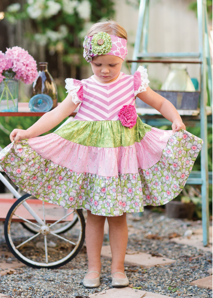 Giggle Moon Lily of the Valley Party Dress (sz 4-8) SPRING 2016 PREORDER