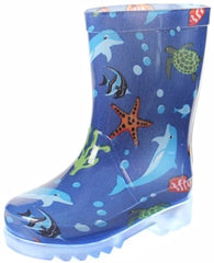 Firebugs Light Up Rainboots-Blue Sea