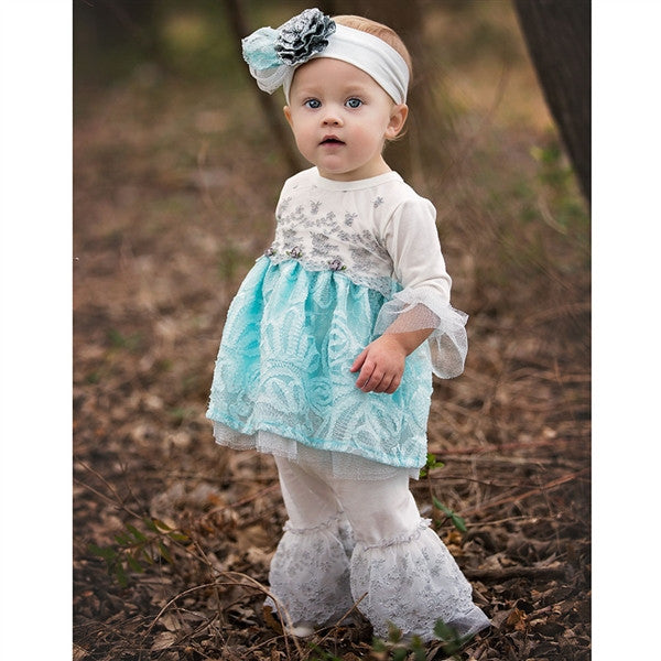 Haute Baby Elsa's Magic Tunic Set (sz 0/3m-6)