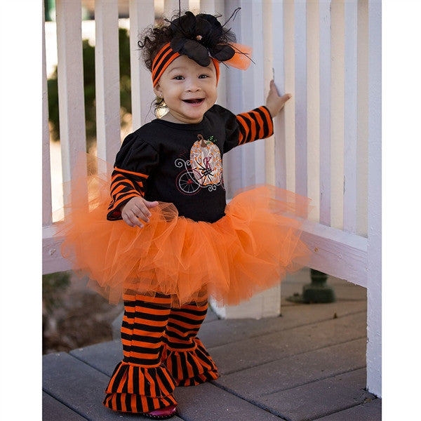 Haute Baby Pumpkin Patch Princess Tutu Set (sz 12m-4T) FALL 2016 PREORDER
