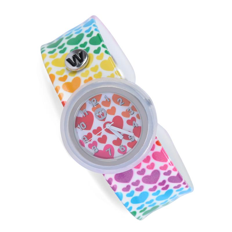 Rainbow Hearts - Watchitude Slap Watch