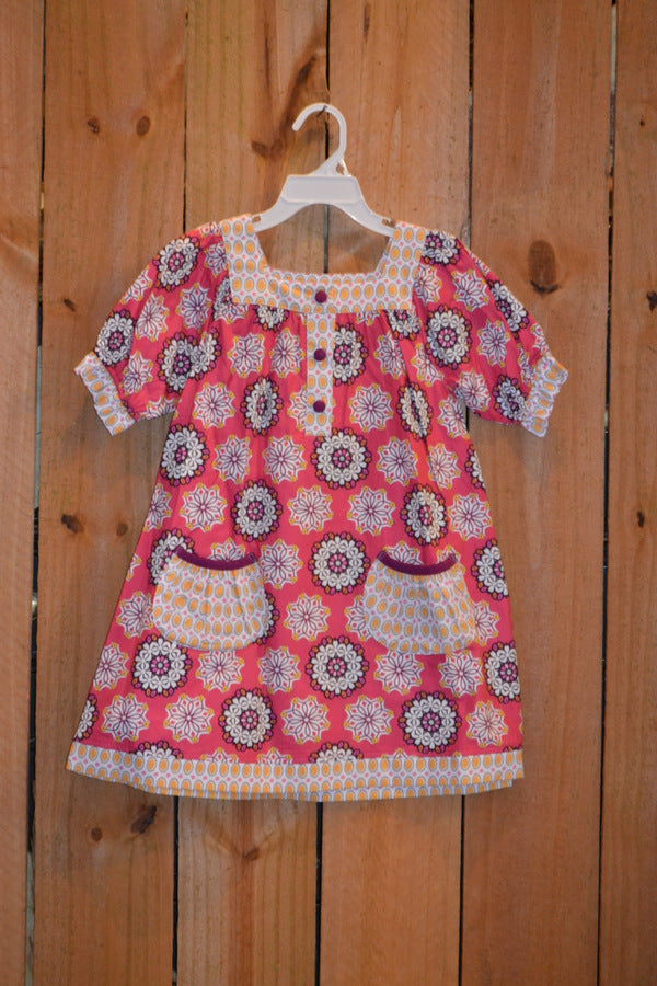 Three Sisters Clothes Razzleberry Yoke Dress w/Pockets