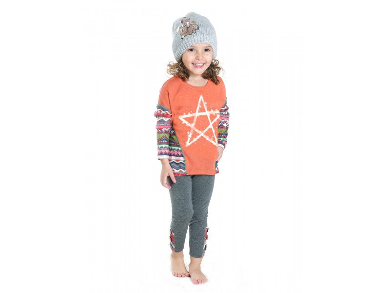 Rock & Clay Starlights Top & Leggings 2pc Set (sz 2t - 6x)