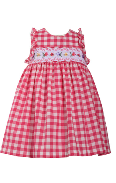 Bonnie Jean Gingham Check Dress