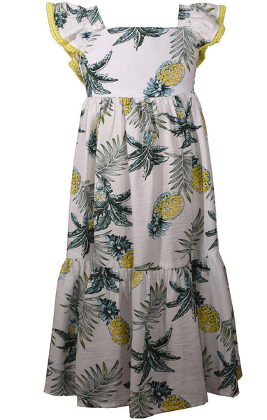 Bonnie Jean Pineapple Flutter Dress |PREORDER|