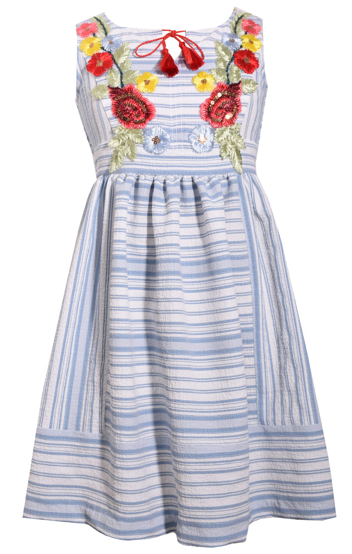 Bonnie Jean Sleeveless Embroidered Sundress |PREORDER|