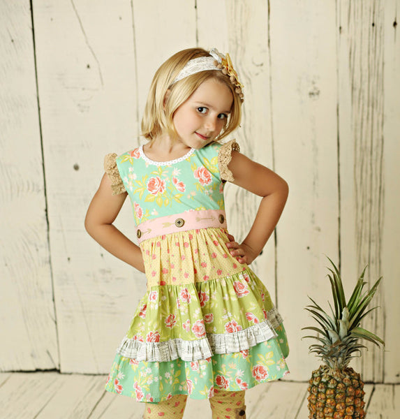 Mustard Pie Andalusia Charli Dress (sz 2t-6)