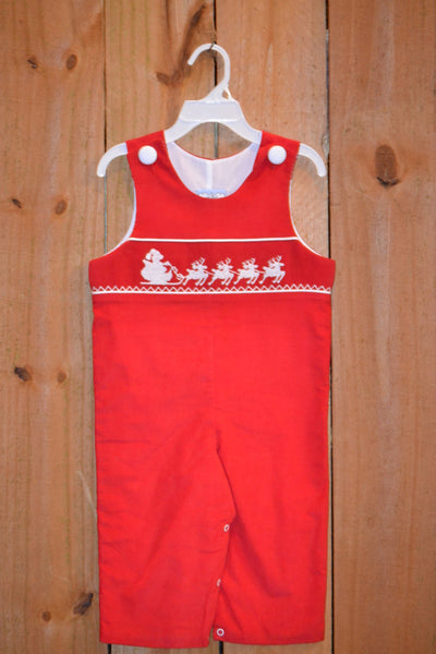 Three Sisters Clothes Santa's Sleigh Smocked Longall | FALL PREORDER 2018