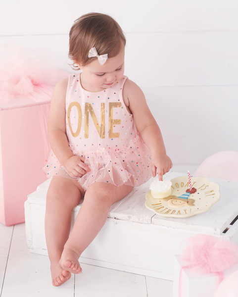 Mud Pie YAY One Birthday Crawler |PREORDER|