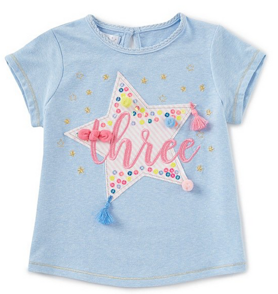 Mud Pie Three Birthday Tee |PREORDER|