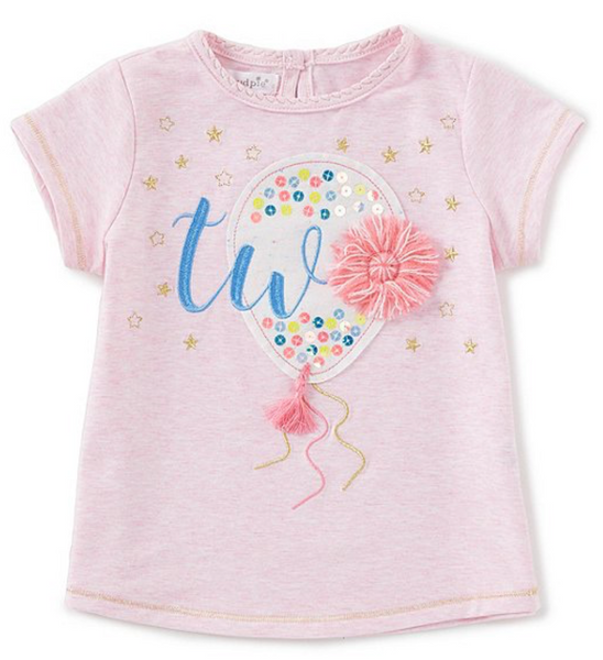 Mud Pie Two Birthday Tee