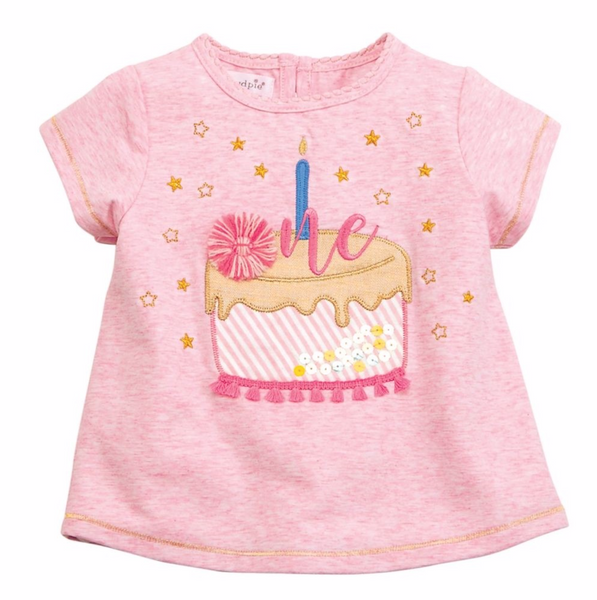 Mud Pie One Birthday Tee