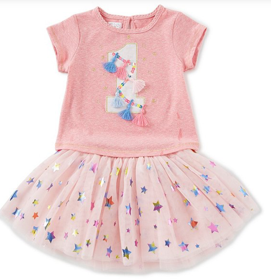 Mud Pie One Birthday Skirt Set |PREORDER|