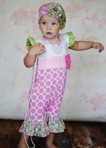 Giggle Moon Lily of the Valley Shortall (sz NB-18m) SPRING 2016 PREORDER