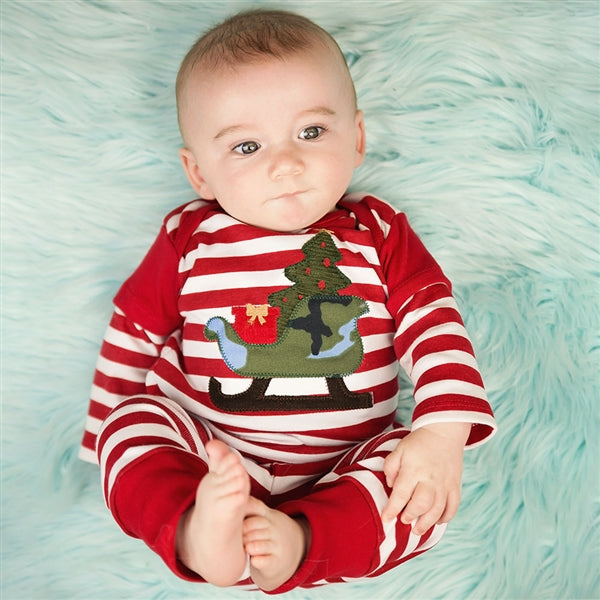 Haute Baby Sleigh Ride Boy Leggings Set