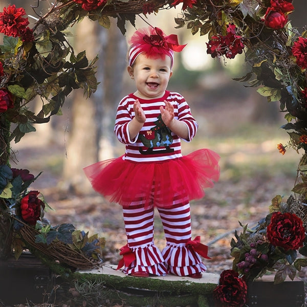 Haute Baby Sleigh Ride Girl Tutu Set