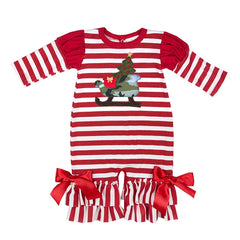 Haute Baby Sleigh Ride Girl Coverall