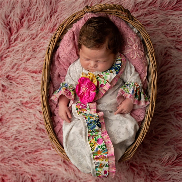 Floral Fantasy Newborn Girls Take Me Home Gown