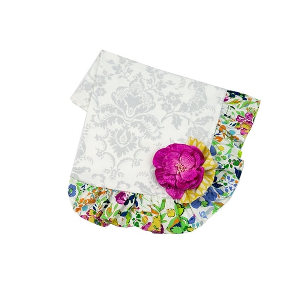 Floral Fantasy Receiving Blanket