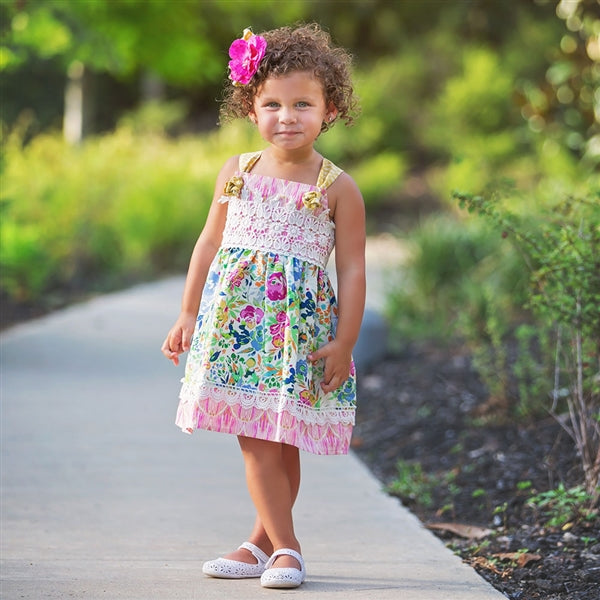 Floral Fantasy Girls Dress