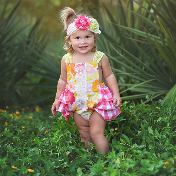 Polly's Picnic Infant & Toddler Girls Sunsuit Romper | PREORDER