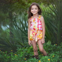 Polly's Picnic Little & Big Girls Romper | PREORDER