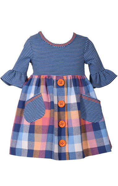 Bonnie Jean Plaid Smock Dress