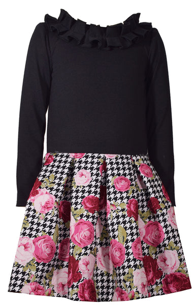 Bonnie Jean Tween Black Rose Pettidress