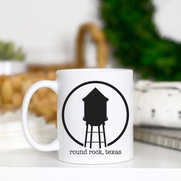 11 oz All White Round Rock Hometown Coffee Mug |PREORDER|