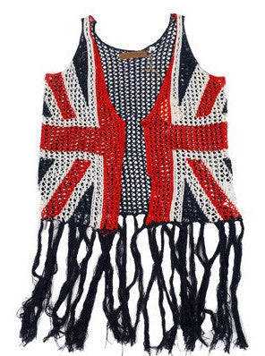 The Classic Union Jack Fringe Vest (sz 6/7-12)