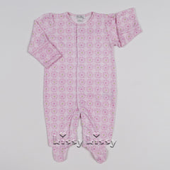 Kissy Kissy Girls Daisy Daydreams Print Footie (sz NB-3/6m)