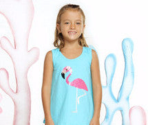Haven Girl Pineapple Express Flamingo Tunic Set (sz 2-6X) | SPRING 2017 PREORDER
