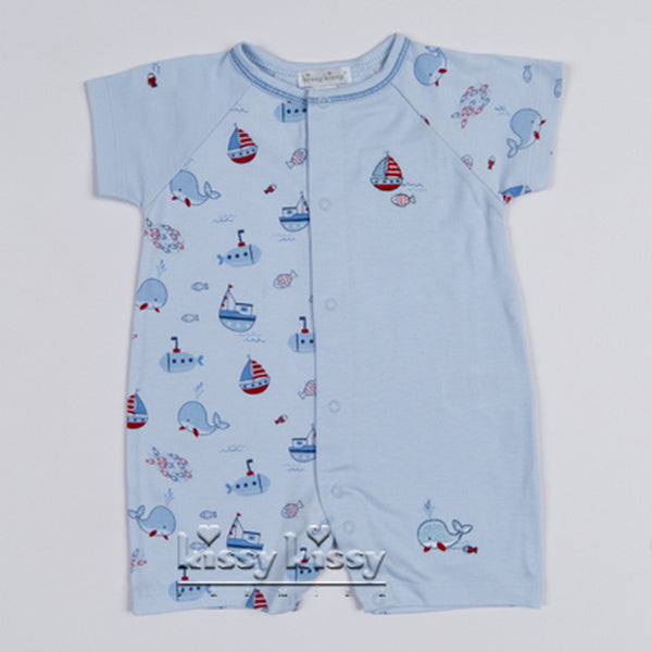 Kissy Kissy Boys Ahoy There Print Short Playsuit (sz 0/3m-6/9m) | SPRING 2017 PREORDER