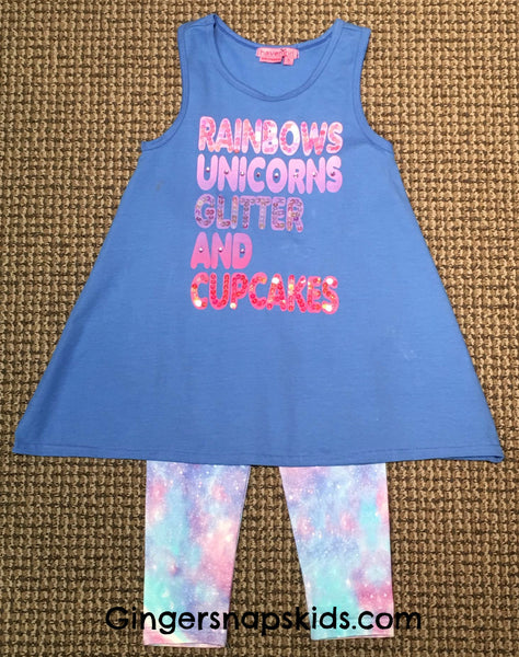 Haven Girl Unicorn Leggings Set (sz 4-10)