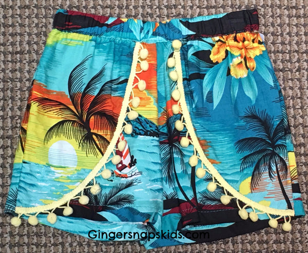 Haven Girl Jungle Book Palm Tree Lisa Short (sz 7-14)