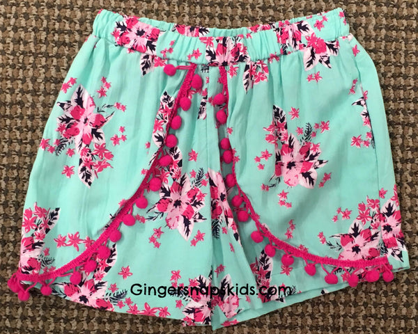 Haven Girl Hibiscus Butterfly Lisa Short (sz 7-14)