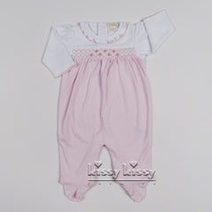 Kissy Kissy Girls CLB Summer Bishop Footie w/Ruffle (sz NB-3/6m)