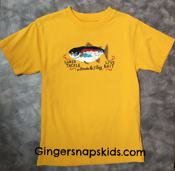 Wes and Willy Fish Bait 2 Sided Tee (sz 12m-7)
