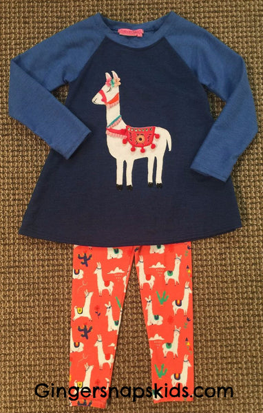 Haven Girl No Prob-Llama Raglan Swing Tunic & Leggings Set (sz 4-10) | FALL 2017 PREORDER