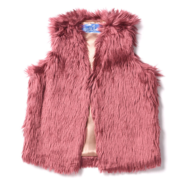 Kapital K Berry Faux Fur Vest (sz 2-6) | FALL 2017 PREORDER